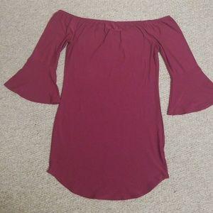 Off the shoulder  Bell sleeved dress